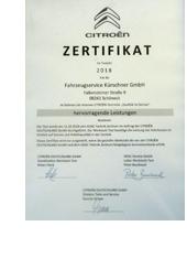 Citroen Zertifikat