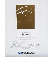 25 Jahre Subaru Händler